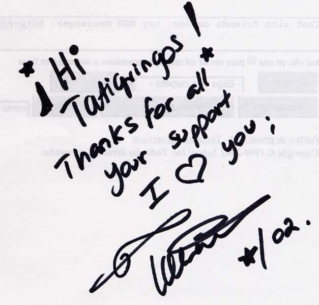 [Handwritten note from Tatiana]